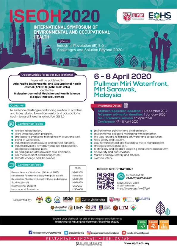 International Symposium of Environmental and Occupational Health (ISEOH2020)